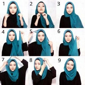 Tutorial Hijab Paris Simple