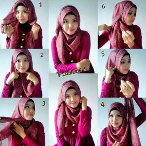 Tutorial Hijab Pashmina Simple Tanpa Ninja